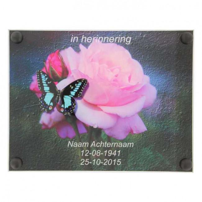 Gedenkplaat Plexiglas 195 X 145 Maakjenaambord