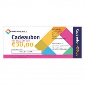 Cadeaubon 30 euro