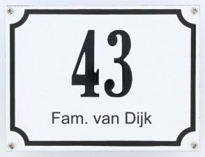 Huisnummer gebold 20 x 15 cm