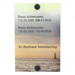 Gedenkplaat plexiglas 10 x 15 cm