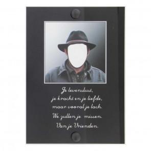 Gedenkplaat plexiglas 13 x 18 cm