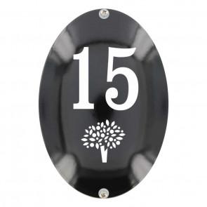 Huisnummer ovaal 11 x 16 cm