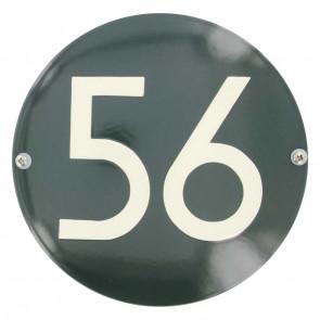 Huisnummer rond 16 cm