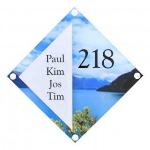 Plexiglas naambord 275 x 275 mm