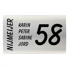 RVS naambord gebogen 30 x 20 cm-1